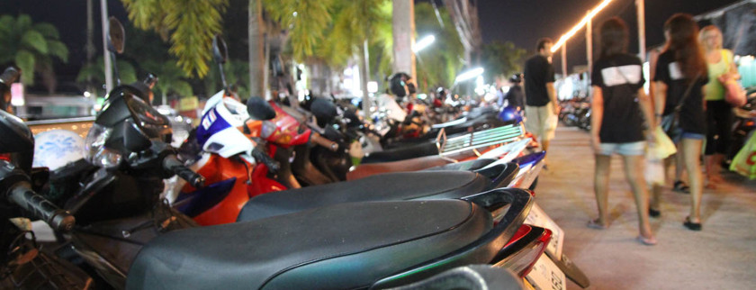 scooters parked
